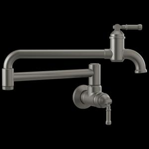Black Stainless Wall Mount Pot Filler Product Image