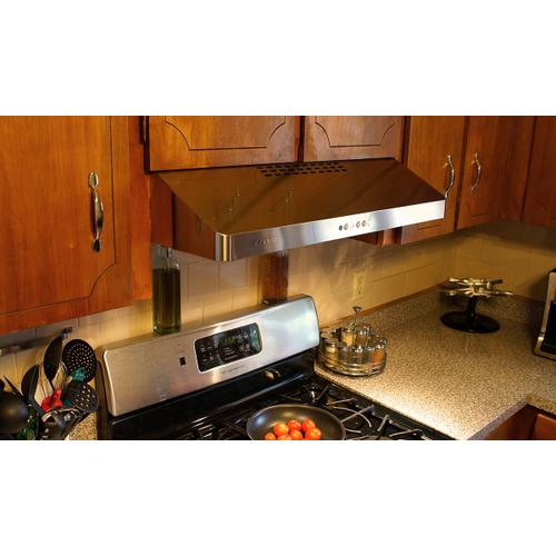 "36"" under cabinet hood stainless steel"