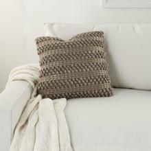 "Life Styles Dc827 Silver Grey 17"" X 17"" Throw Pillow"