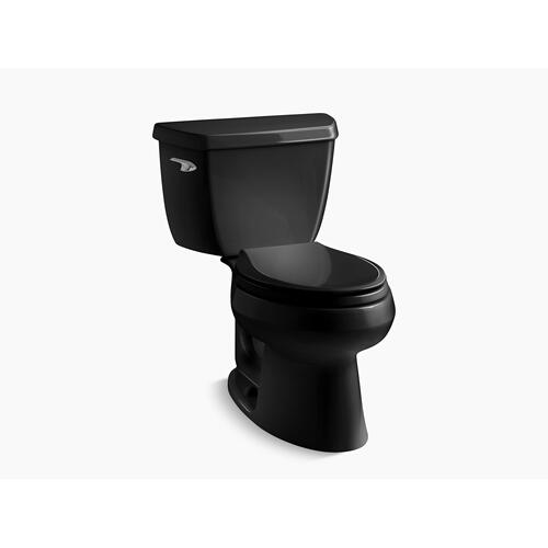 Black Black Two-piece Elongated 1.28 Gpf Toilet