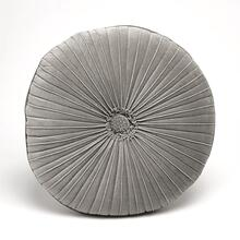 Van Dyke Round Pillow-Grey