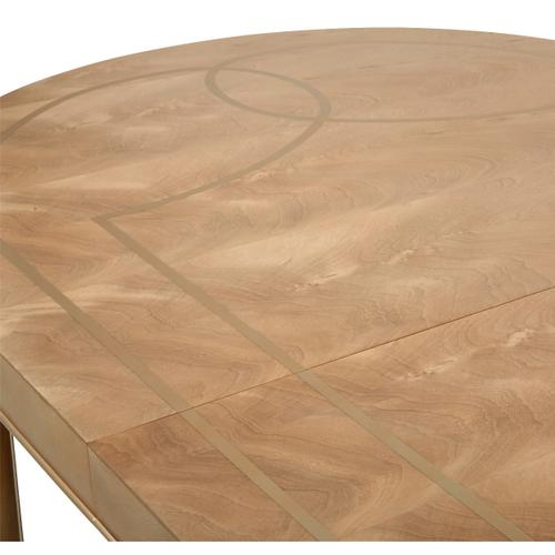 Amini - 4 Leg Oval Dining Table (includes: 2 X 22 Leaves)
