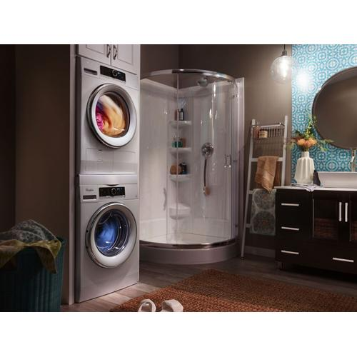 Whirlpool - 4.3 cu.ft Compact Ventless Heat Pump Dryer with Wrinkle Shield™ Option White