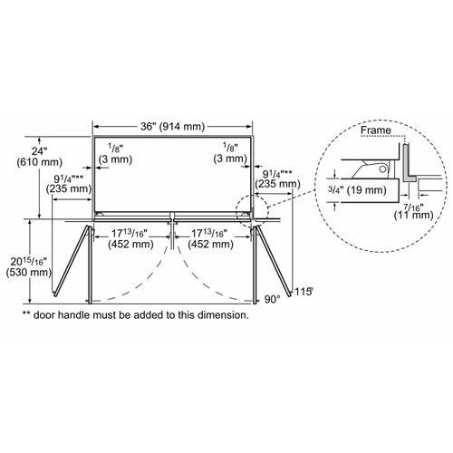 Bosch Benchmark Series - Benchmark® Built-in Bottom Freezer Refrigerator 36'' B36BT930NS