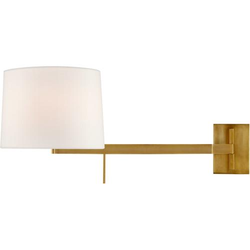 Barbara Barry Sweep 1 Light 12 inch Soft Brass Articulating Wall Sconce Wall Light, Medium Right