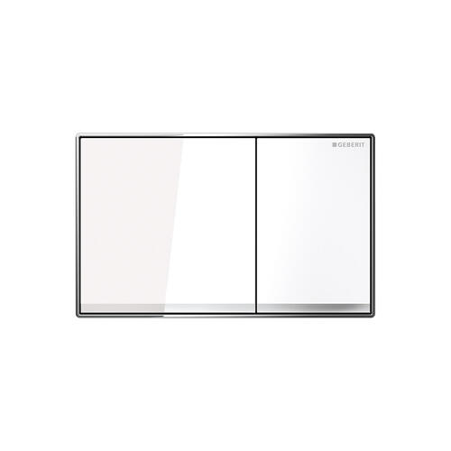 Sigma60 Dual-flush plates for Sigma series in-wall toilet systems White glass Finish