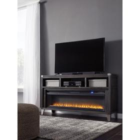 Todoe LG TV Stand W/Fireplace Gray