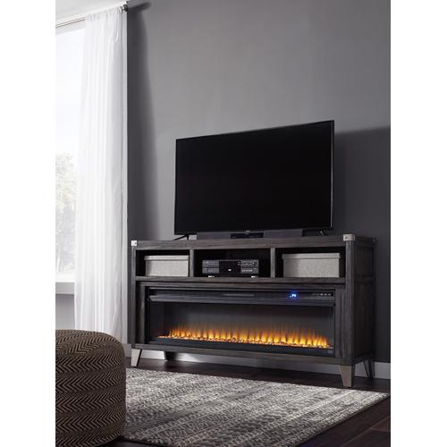 Todoe LG TV Stand W/Fireplace Gray