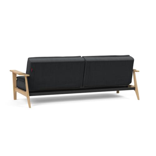 "DUBLEXO SOFA, 45""X83""/SP FREJ WOOD ARMREST/LEGS, OAK/SP FREJ METAL BARS"