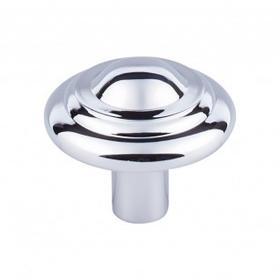 Aspen II Button Knob 1 3/4 Inch - Polished Chrome