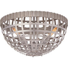 View Product - AERIN Mill 3 Light 15 inch Burnished Silver Leaf Flush Mount Ceiling Light, Small