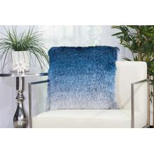 "Shag Tr011 Indigo 20"" X 20"" Throw Pillow"