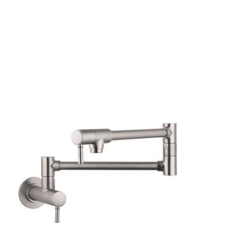 Steel Optic Pot Filler, Wall-Mounted
