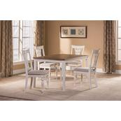 Bayberry / Embassy 5-piece Rectangle Dining Set - White