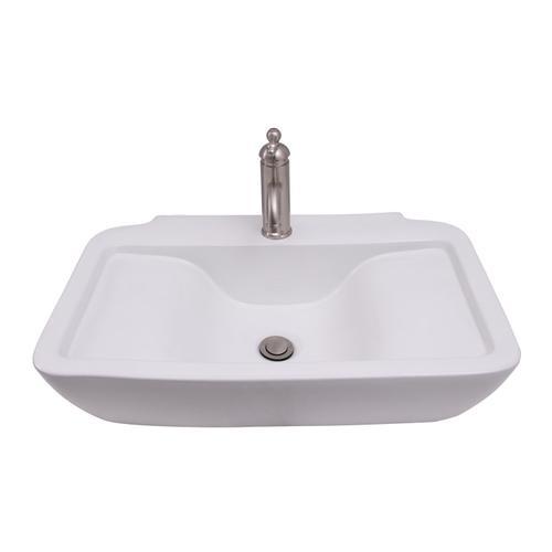 """Leeds 25"""" Wall-Hung Basin - 6"""" Mini Widespread"""