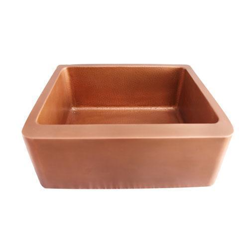 "Bentley Single Bowl Copper Farmer Sink - 25"""