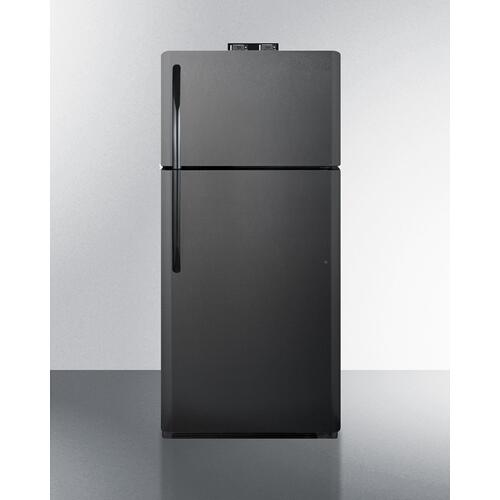 18 CU.FT. Break Room Refrigerator-freezer In Black With Nist Calibrated Alarm/thermometers