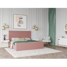 View Product - Modrest Beverly - Modern Mauve Velvet Bed