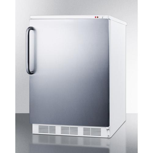 Commercial Freestanding Medical All-freezer Capable of -25 C Operation, With Stainless Steel Door and Towel Bar Handle