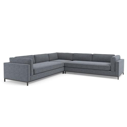 Cypress Navy Cover Grammercy 3-piece Sectional