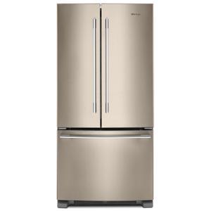 WHIRLPOOL33-inch Wide French Door Refrigerator - 22 cu. ft. Fingerprint Resistant Sunset Bronze