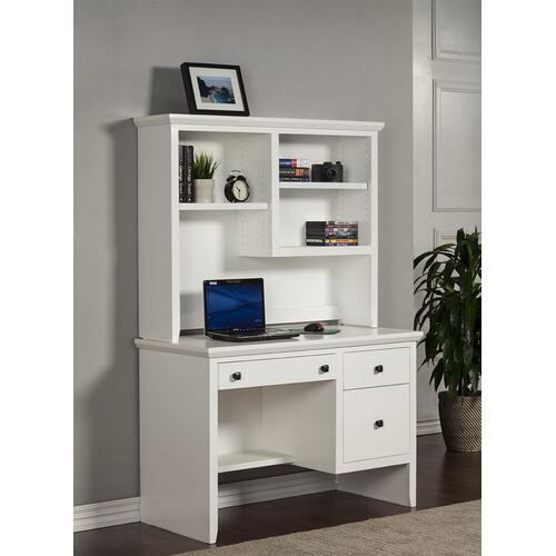 "A-S100 Shaker Alder 45"" 2-Drawer Junior Computer Desk"