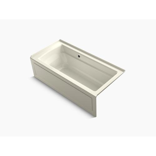 """Biscuit 66"""" X 32"""" Alcove Bath With Bask Heated Surface, Integral Apron, Integral Flange, and Right-hand Drain"""