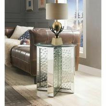 ACME Nysa End Table - 80217 - Mirrored & Faux Crystals