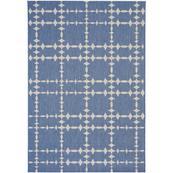 "Finesse-Tower Court Capri Blue - Rectangle - 3'11"" x 5'6"""