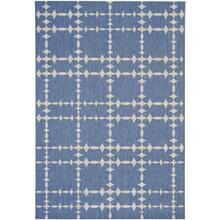"Finesse-Tower Court Capri Blue - Rectangle - 3'11"" x 5'6"""