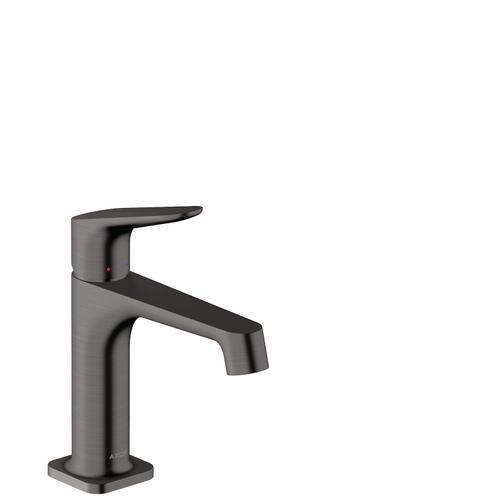 Brushed Black Chrome Single lever basin mixer 100 with pop-up waste set