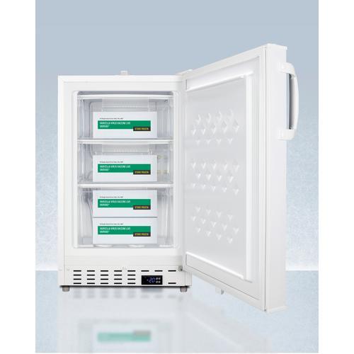 """Summit - 20"""" Wide Built-in Vaccine All-freezer, ADA Compliant"""