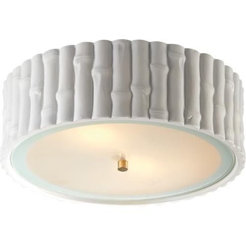 Alexa Hampton Frank 3 Light 15 inch Plaster White Flush Mount Ceiling Light