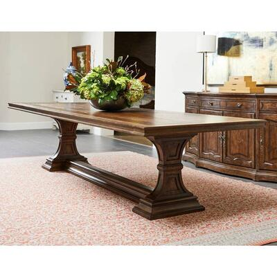 "Thoroughbred 120"" Admiral's Rectangular Dining Table - Toast"