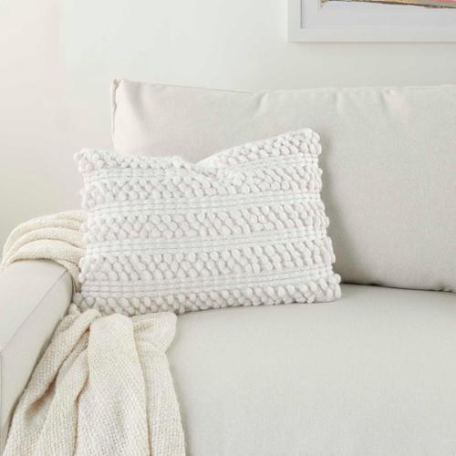 "Life Styles Dc827 White 14"" X 20"" Throw Pillow"