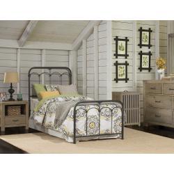 Jocelyn Bed Kit With Frame - Twin - Black Speckle