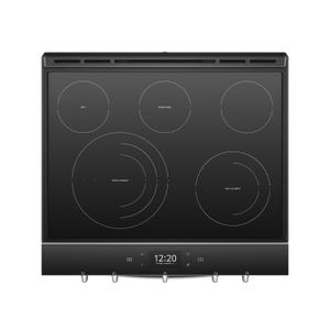Whirlpool  6.4 cu. ft. Smart Slide-in Electric Range with Scan-to-Cook Technology Fingerprint Resistant Stainless Steel
