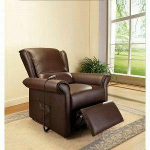 ACME Emari Recliner w/Power Lift & Massage - 59169 - Dark Brown PU