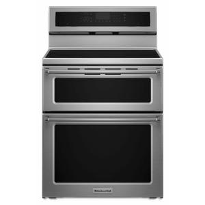 Kitchenaid30-Inch 4-Element Induction Double Oven Convection Range - Stainless Steel