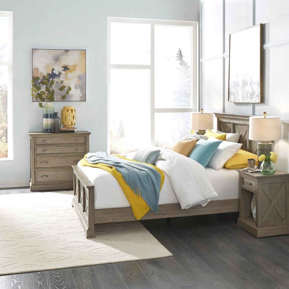 Walker Queen Bed, Nightstand and Chest