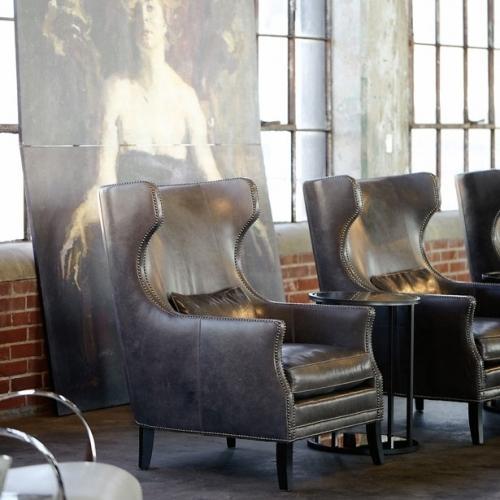 Bernhardt Interiors - Kingston Wing Chair in Mocha (751)