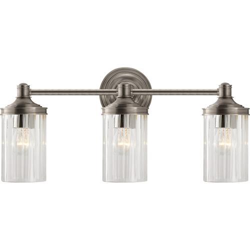 Visual Comfort - Alexa Hampton Ava 3 Light 20 inch Antique Nickel Triple Sconce Wall Light