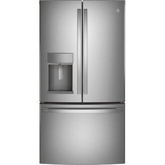 GE Profile™ Series ENERGY STAR® 22.1 Cu. Ft. Counter-Depth Fingerprint Resistant French-Door Refrigerator with Hands-Free AutoFill Product Image