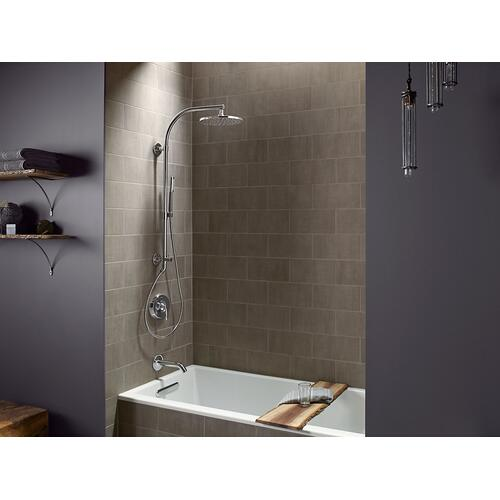 Vibrant Polished Nickel Beam Bath/shower Column