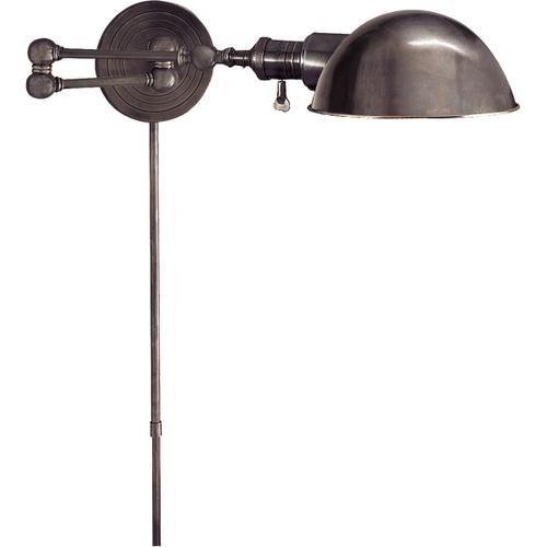 E. F. Chapman Boston 23 inch 60.00 watt Bronze Swing-Arm Wall Light
