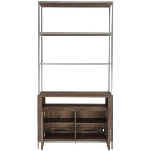 Eastman Bunching Console with Metal Deck in Sable Brown, Gray Mist