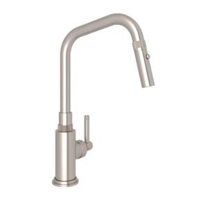 Campo Side Lever Pulldown Faucet - Satin Nickel with Industrial Metal Lever Handle