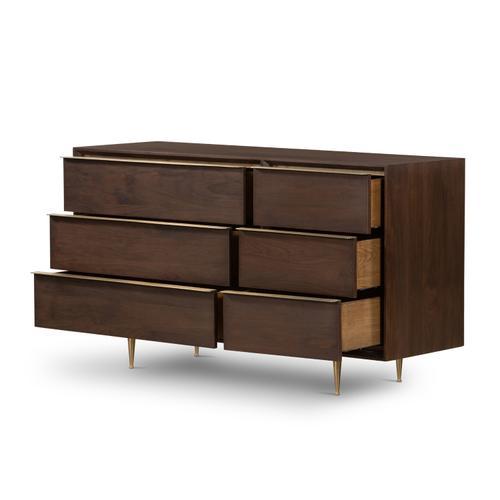 Four Hands - Billy 6 Drawer Dresser-dark Walnut