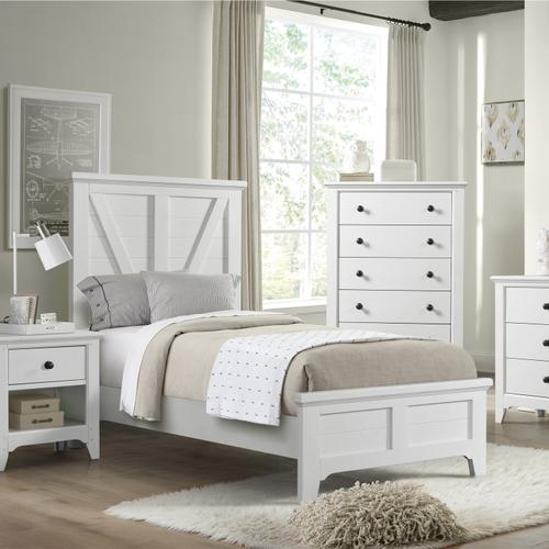 Tahoe Youth Twin Panel Bed  Sea Shell
