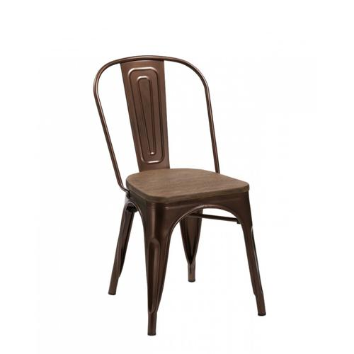 Jethro - Modern Copper & Wood Dining Chair (Set of 2)